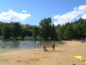 Children's Beach at Aubeterre, near Chauffour Gites
