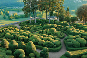 Chateau Gardens in the Dordogne Region of France