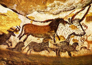 Cave drawings from Lascaux in the Dordogne